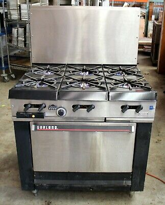 Garland Natural Gas 6 Burner 36 Range With Convection Oven