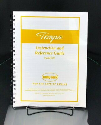 Baby Lock Tempo BLTP Sewing Machine Instructions Manual COLOR COPY