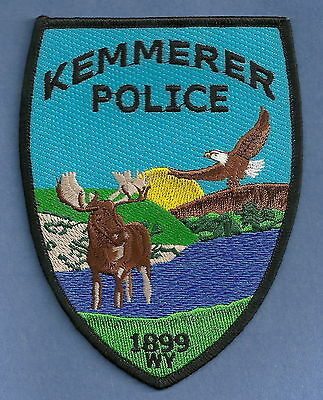 KEMMERER WYOMING POLICE PATCH WILDLIFE SCENE!
