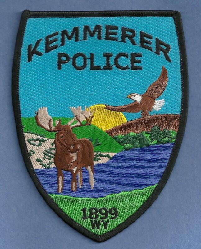 KEMMERER WYOMING POLICE SHOULDER PATCH WILDLIFE SCENE!