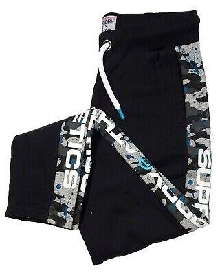 Superdry Men's Black Trophy Camo Splat Graphic Fleece Jogger Pants