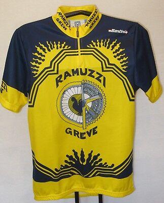 Ramuzzi Greve Santini Italian Short Sleeve Cycling Jersey ¼ Zip Sz M   S NEW a80416748
