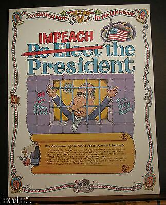 Impeach the President Richard Nixon 1973 No Whitewash in the Whitehouse