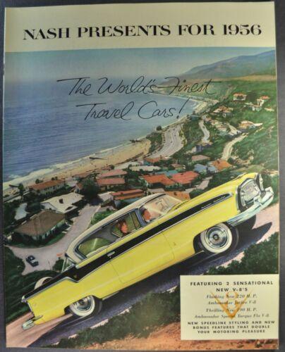 1956 Nash Large Brochure Ambassador Country Club Statesman Excellent Original 56