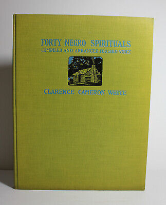 Antique 1927 FORTY NEGRO SPIRITUALS Sheet Music African American Christian - Negro Spiritual Songs