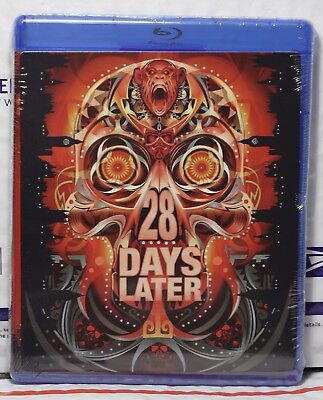 NEW 28 DAYS LATER BLU-RAY! W-LIMITED EDITION HALLOWEEN FACEPLATE ART CARD!