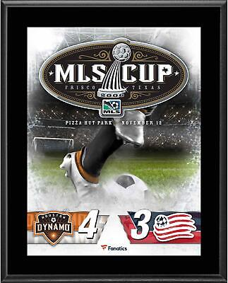 Houston Dynamo vs. New England Revolution 2006 MLS Cup 10.5x13 Sublimated Plaque