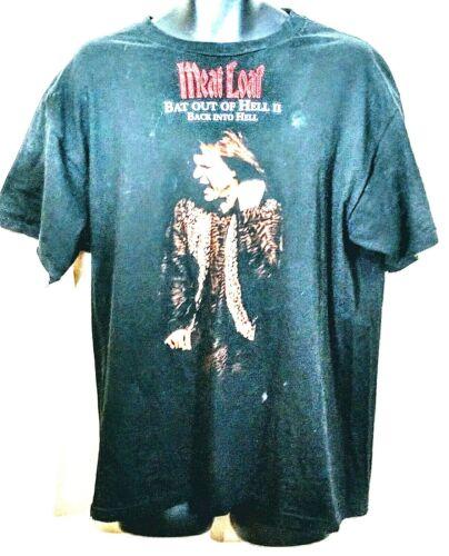 Vintage Single Stitch Meat Loaf T-Shirt 1994 Bat Out Of Hell Black USA sz XL