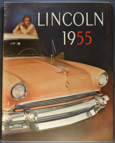 1955 Lincoln Large 20pg Catalog Sales Brochure Capri Excellent Original 55