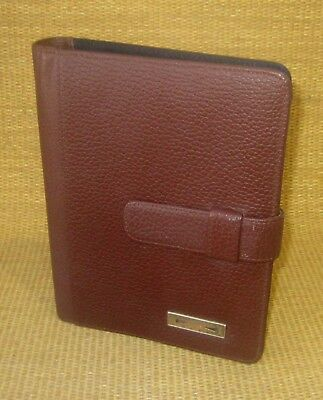Classicdesk 1 Rings Brown Leather Day-timer Open Plannerbinder Franklin
