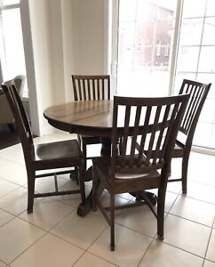 Solid Maple Table and Chairs made by local mennonites