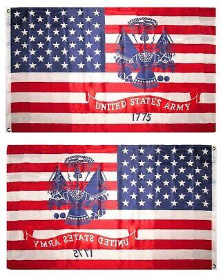 3x5 USA US Flag Army Crest 1775 Emblem Isignia Flag 3'x5' Ba