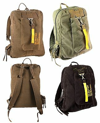 Vintage Canvas Flight Bags - Military Aviator Backpack Knapsack School Bag Aviation Flight Bags