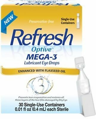 REFRESH Optive Mega-3 Lubricant Eye Drops, Single-Use Contai