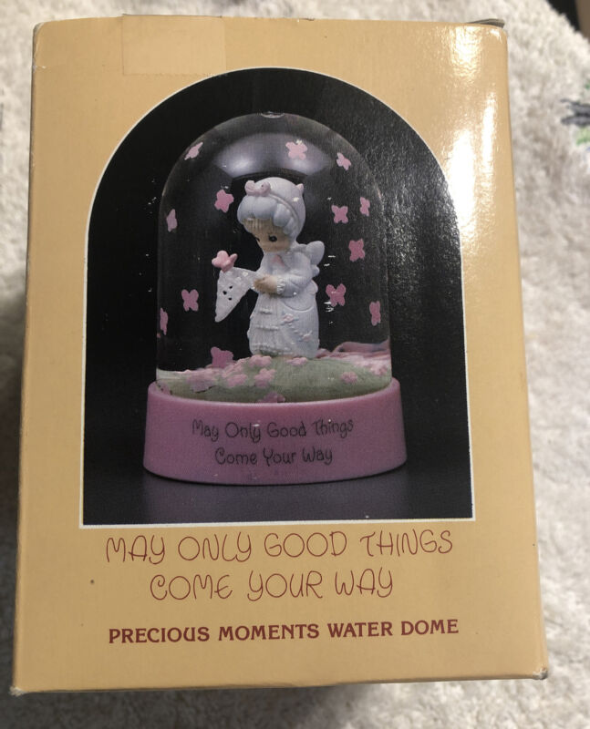 Precious Moments Water Dome Snow Globe May Only Good Things Butterflies 1986