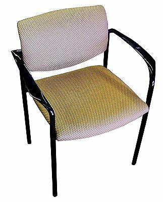 Steelcase Player Chair Stacking Upholstered Seat Warms Gold With Black Frame