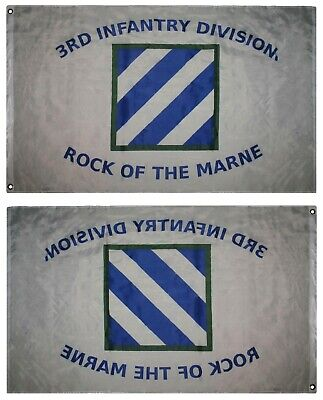 3x5 US Army 3-D 3rd Infantry Division Rock of The Marne Flag