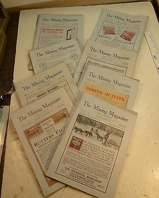 1911 - 1912 THE MINING MAGAZINE LONDON OLD MONTHLY JOURNAL - 5 ISSUES