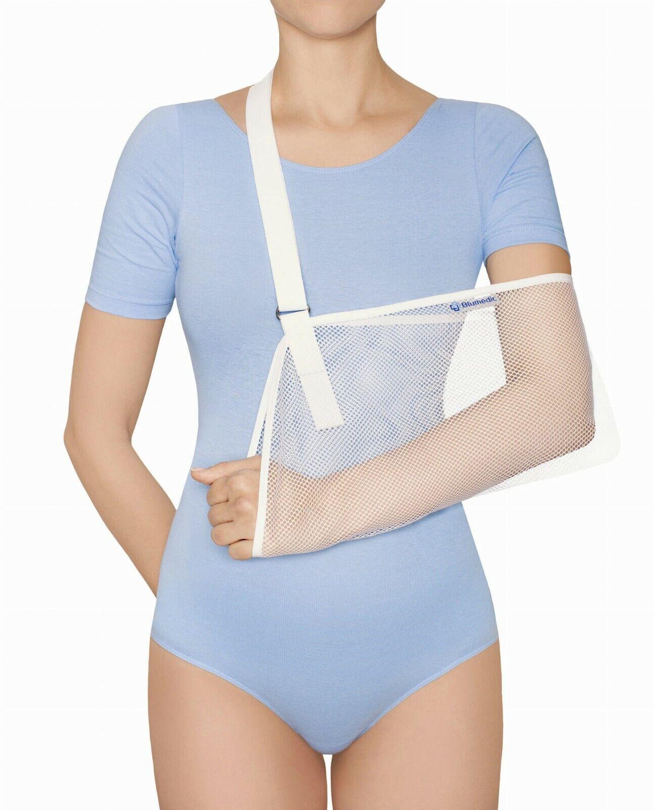Armschlinge Armtragegurt Armbandage Armorthese  atmungsaktiv Gipsstütze weiß
