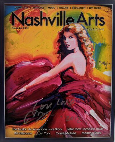 "PETER MAX Signed Autograph ""Taylor Swift Nashville Arts"" Magazine JSA LOA"
