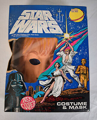 Luke Skywalker Halloween Costume Child (Star Wars Ben Cooper Luke Skywalker Halloween Costume Mask M Child NIB)