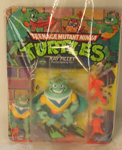 VINTAGE-Teenage-Mutant-Ninja-Turtles-TMNT-1988-RAY-FILLET-VERY-RARE
