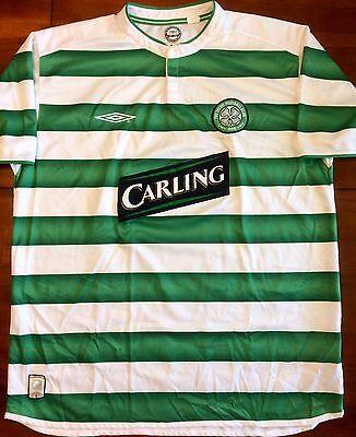 Umbro GLASGOW CELTIC 2003/04 Home XL Soccer Jersey Football Shirt Scotland. image