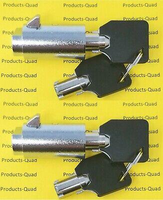 2x Admiral Vending Machine T Handle Locks Plug Keyed Alike. Cylinder Plug Locks