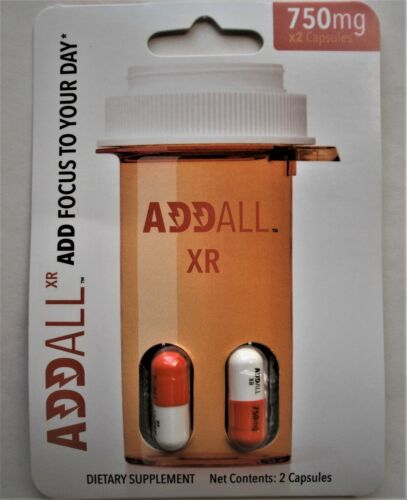 Addall XR - Energy Focus, Memory Concentration Supplement 750 mg 6 pills(3pks)