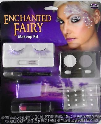 Halloween Costumes Fairy Makeup (ENCHANTED FAIRY THEATER COSTUME FACE MAKEUP KIT–  GLITTER LASHES - PEARLS -)