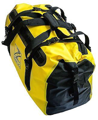 TekLite Pro Waterproof Motorcycle Luggage Roll Top Dry Bag Tail Pack 60L Yellow