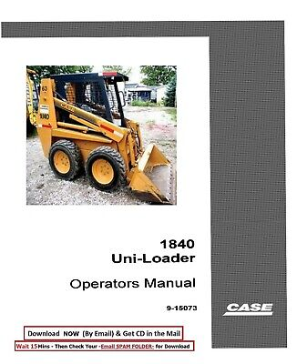 Case 1840 Uni-loader Skid Steer Owners Operators Manual Loader Maintenance