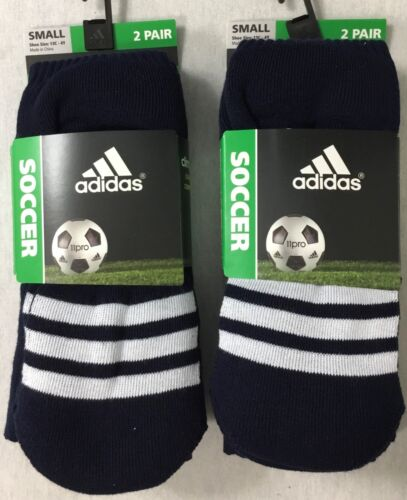 Adidas 4 Pair Kids Soccer OTC Cushioned Crew Socks 5124528 Navy Blue Size Size S