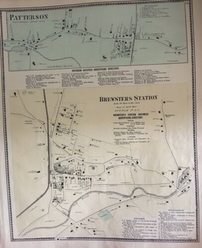 Map of Patterson and Brewster Station, New York, Beers, Ellis, Soule 1867