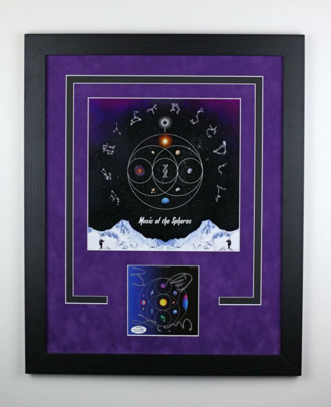 Coldplay Autographed Framed 16x20 Photo Music of the Spheres World Tour ACOA
