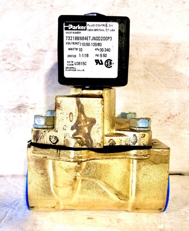 "Parker Solenoid valve 73218BN64ETJN0D200P3 110V 1"" NPT 5-50 PSI FREE SHIPPING"
