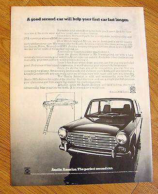 1969 Austin America Car Ad   The Perfect Second Car