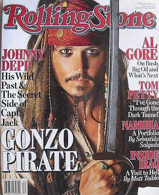 - JOHNNY DEPP July 2006 ROLLING STONE Magazine TOM PETTY  THE FLAMING LIPS