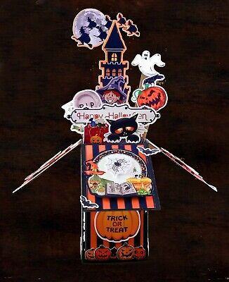 Pop Up Art Halloween (Halloween Card Hand made Halloween pop up box card card by aurora Arts)