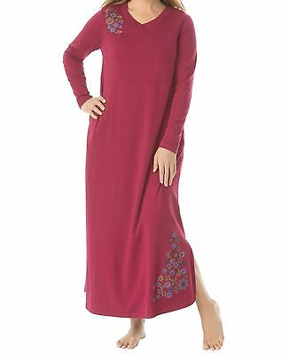 Plus Size Pomegranate Embroidered V-neck Long sleeves Lounger Size 4X(34/36)