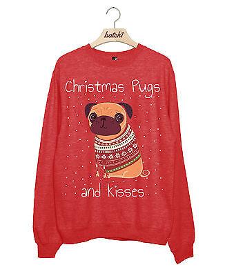 ugs und Kisses Neuheit Mode Damen Festlich Sweatshirt (Weihnachten Kisses)