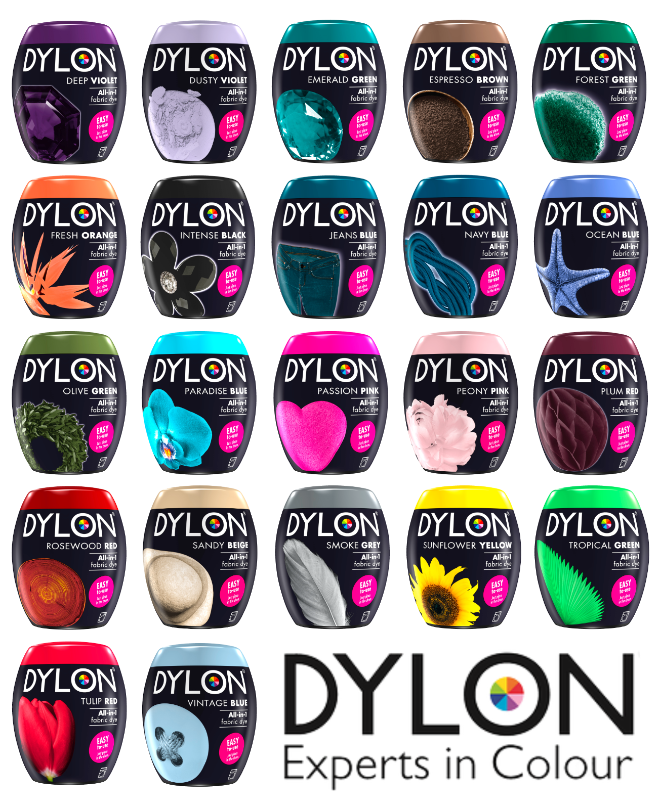 Finden, vergleichen, kaufen - DYLON Machine Dye Pods 350g - Full Range of Colours Available! auf eBay.co.uk ab 3.99 GBP