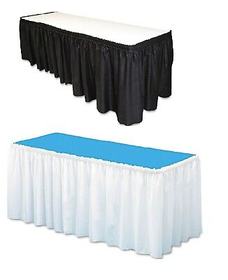 Table Set Linen-Like Table Skirting Soft - White/Black 29