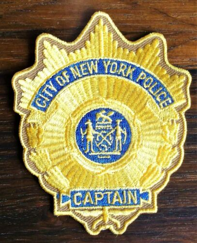 GEMSCO NOS NYPD Collectible Patch POLICE CAPTAIN RANK PATCH NYPD NY Original 30+