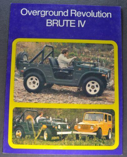 1972 Suzuki Brute IV Sales Brochure Sheet Excellent Original 72