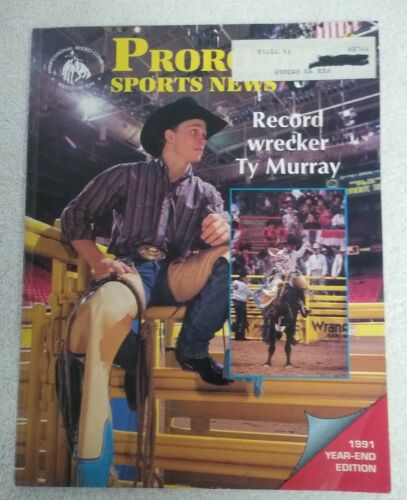 """1991 Year-End Edition Pro Rodeo Sports News """"Record Wrecker Ty Murry"""""""