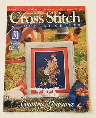 Vintage Better Homes and Gardens Cross Stitch & Country Crafts ~ May/June 1995 Better Homes And Gardens Cross Stitch