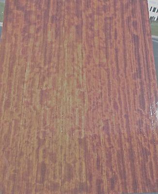 African Figured Bubinga Prefinished Wood Veneer 13 X 18 112th All Wood