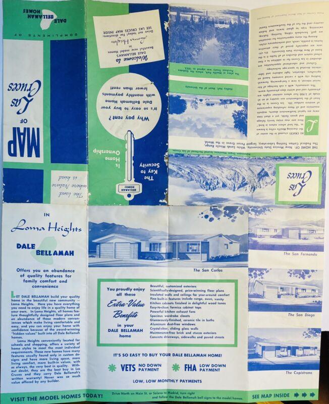 Las Cruces NM Map Dale Bellamah Homes Vintage Map Brochure Homes Photos