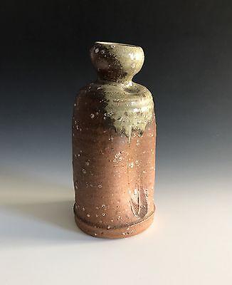 A Vintage Signed Japanese Shigaraki-Yaki  Pottery Vase